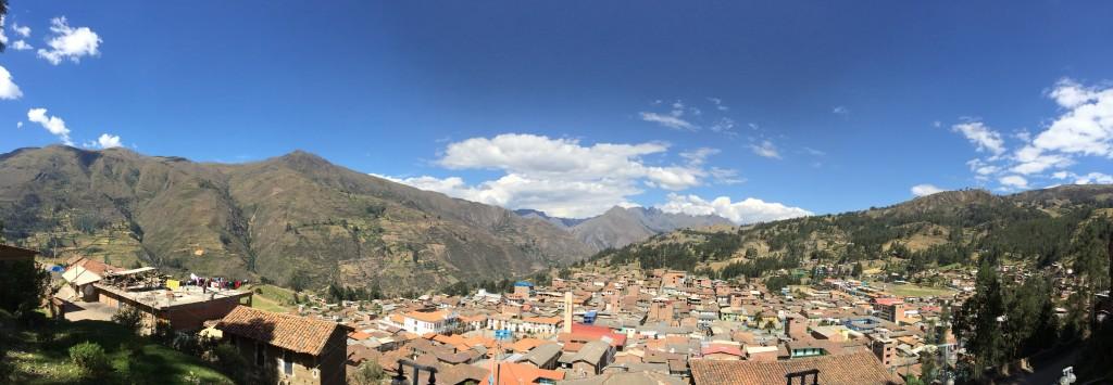 Vue de la ville où les stagiaires ont vécu durant 2 mois.