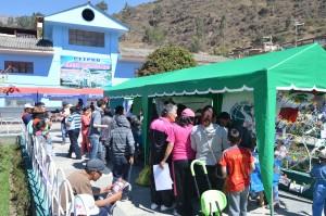 Parc de Huari : événement final de notre stage qui est un kiosque de sensibilisation sur la saine alimentation