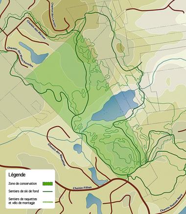 La carte du secteur que l'HÉPAN veut acquérir.