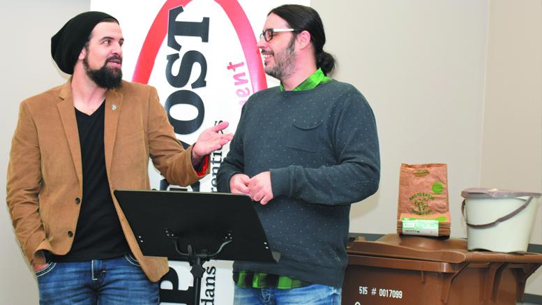 Photo : Michel Fortier, Les Denis Drolet au lancement des bacs bruns de la Ville de Prévost.