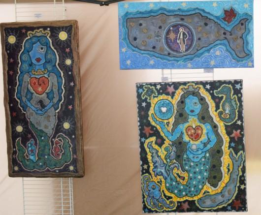 Quelques peintures issues du monde d'Isabelle Miltioux