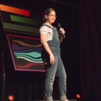3e place : Audréanne Sarrazin (humour) Dans la catégorie 5 à 12 ans