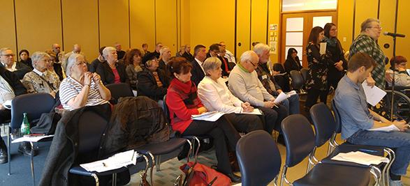 Plus d'une cinquantaine de personnes ont assistées à l'assemblée Photo : Valérie Lépine