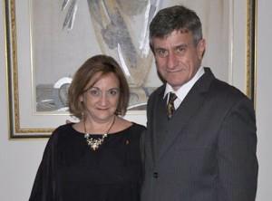 Photo courtoisie;Cristina Jensen, présidente sortante et François Beaudereau, nouveau président élu
