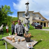 Le sculpteur Michel Giroux
