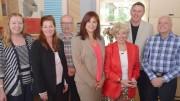 Diane Jeannotte, Pascale Auger, Claude Brunet, Nathalie Rochon, Claudette Laflamme, Daniel Houde et Pierre Salois. Photo: Michel Fortier