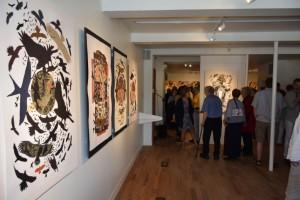 Photo: Jordan Dupuis; Au centre d'exposition de Val-David, plusieurs toiles de René Derouin.