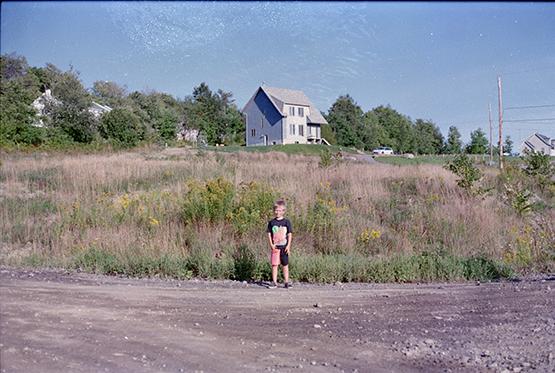 Photo: Diane Brault; En 1991, notre terrain de 34000 pieds carrés de terre argileuse, sur la rue Joseph.