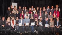 Photo : Lucien Lisabelle ; Les lauréats, les gagnants, les organisateurs et les invités du Grands Prix de la culture des Laurentides, 28e édition