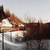 P'Tit Train du Nord, hiver 1978 – Photo : Jean-Guy Joubert