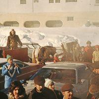 Accueil à la gare de Piedmont, 22 janvier 1978 – Photo : Diane Brault