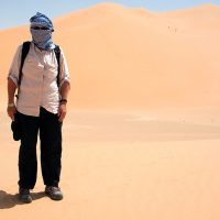Diane Brault dans le Rub al-Khali. Photo Jean-Guy Joubert