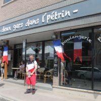 Deux gars dans l'Pétrin, une boulangerie  le pain est fabriqué à partir de produits du terroir, le Franchouillard, le pain  du jour, prénommé ainsi en l'honneur de cette journée. Un délice !  – Photo : Jacinthe Laliberté